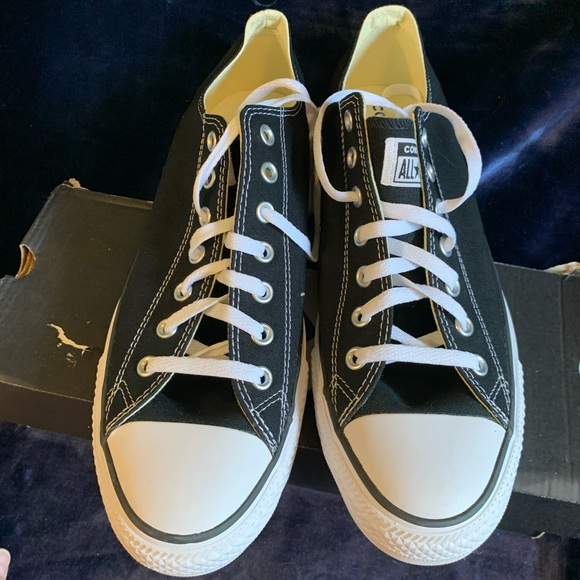Converse all star low black new with box M 13 W 15